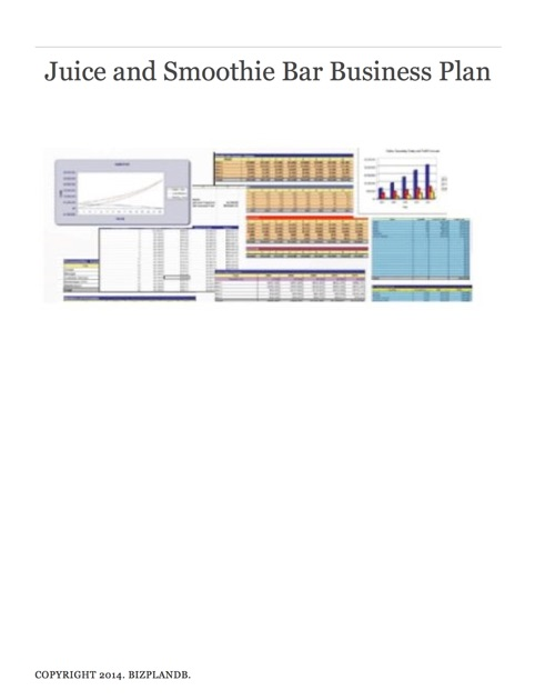 Juice and Smoothie Bar Business Plan by BizPlanDB on iBooks