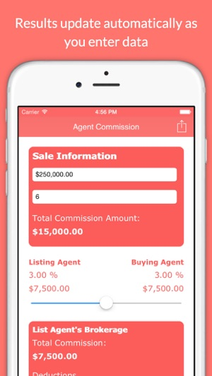Real Estate Agent Commission Calculator on the App Store - realtor percentage calculator