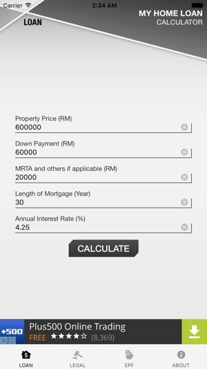 Malaysia Home Loan Calculator on the App Store - home loan calculation