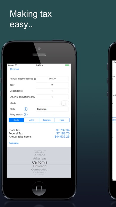 Net Pay Salary Calculator US by Steven Curtis (iOS, United States