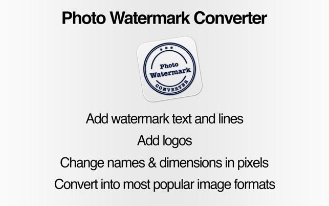 Photo Watermark Converter on the Mac App Store
