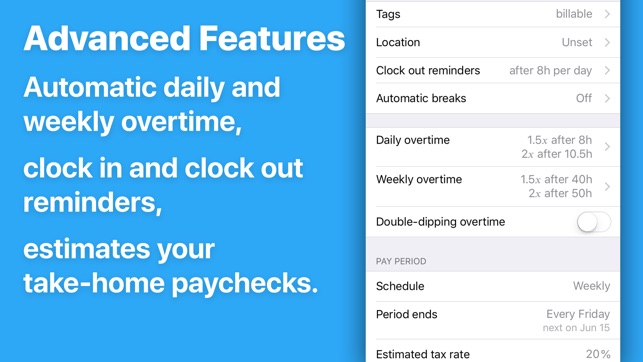 HoursTracker Hours and Pay on the App Store