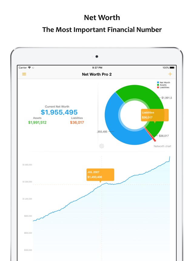 Net Worth Pro 2 on the App Store - assets liabilities net worth