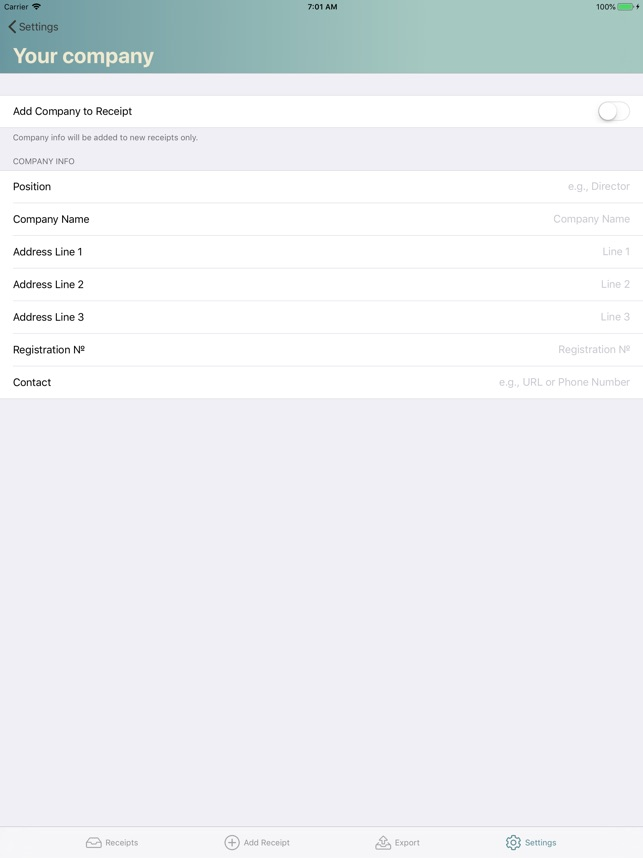 Receipts create, print  mail on the App Store