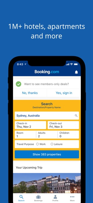 Booking Travel Deals on the App Store