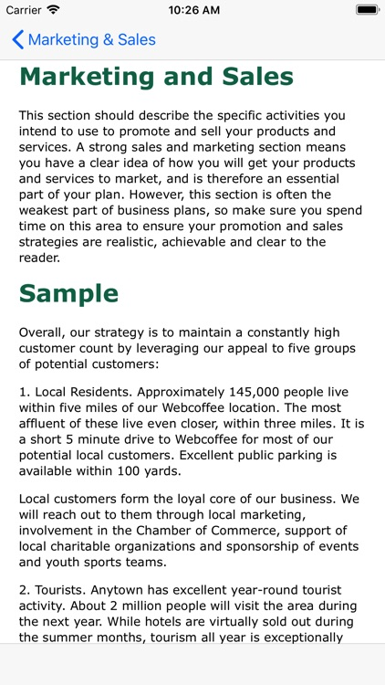Business Plan by MoodWorks - 5 minute business plan