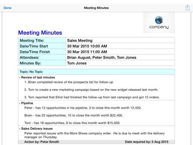 simple meeting minutes - Goalgoodwinmetals