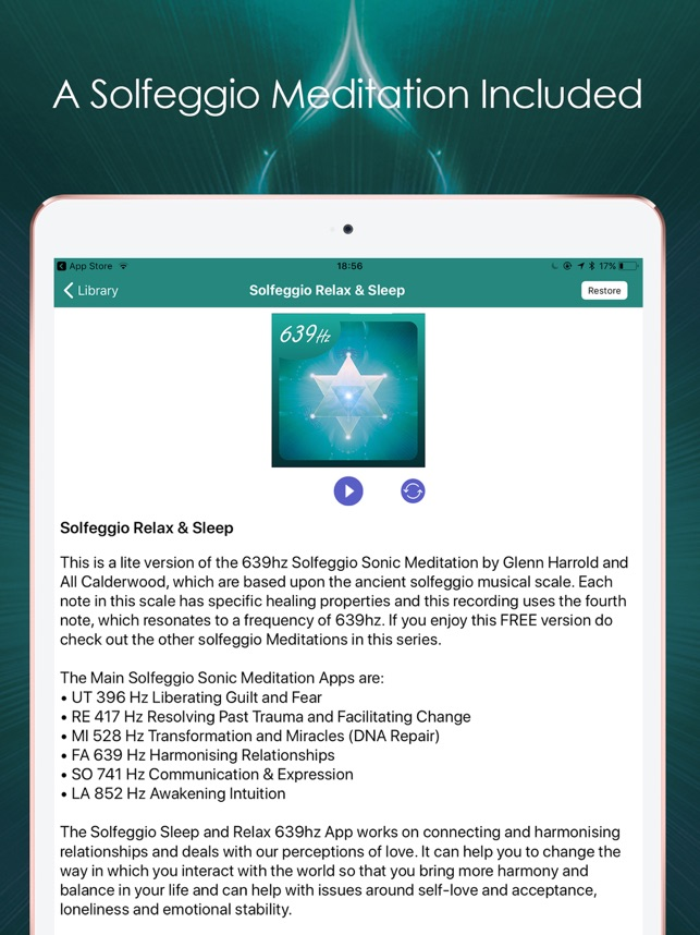Solfeggio Sonic Meditations on the App Store