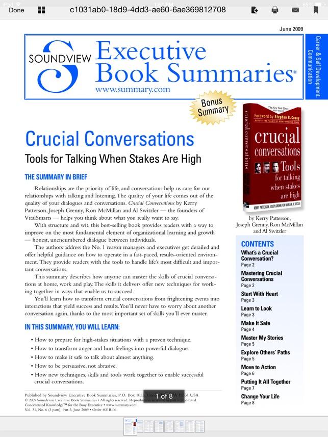Summary on the App Store - executive summaries books