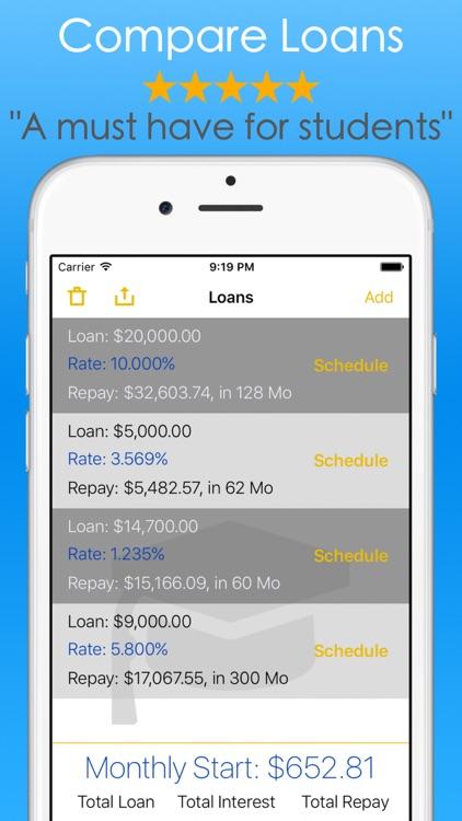 Student Loans Calculator - Debt Payoff Tracker Vue by ChuChu Train