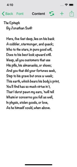 Poets Corner on the App Store