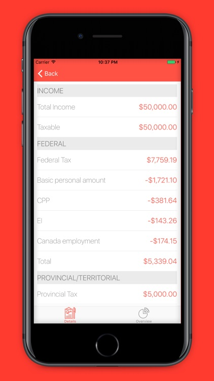 Canada Income Tax - 2016 Income Tax Calculator by Lucas Pacentrilli - Income Tax Calculator