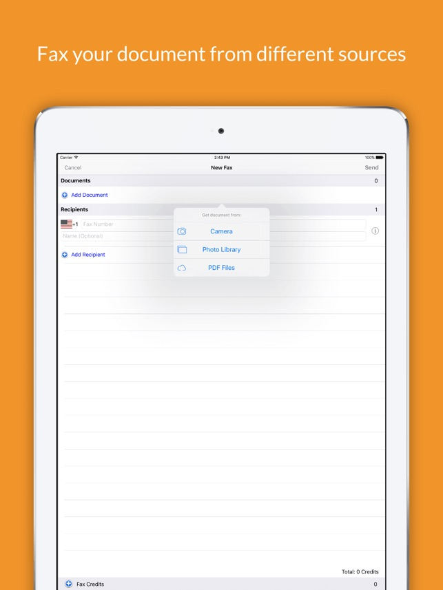 Snapfax - Snap to Fax on the App Store - fax document