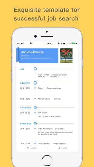 ResumeCV-best resume builder on the App Store