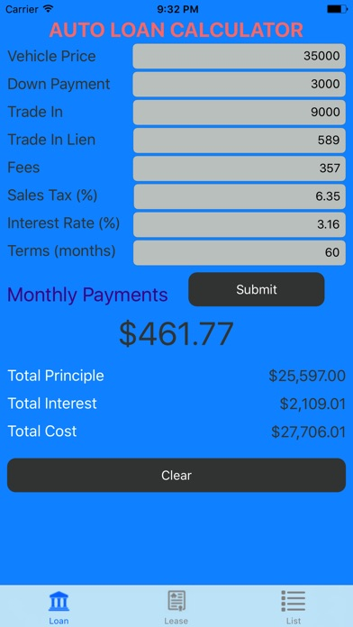 Top 20 Auto Loan Lease Calculator Apps for iPhone  iPad