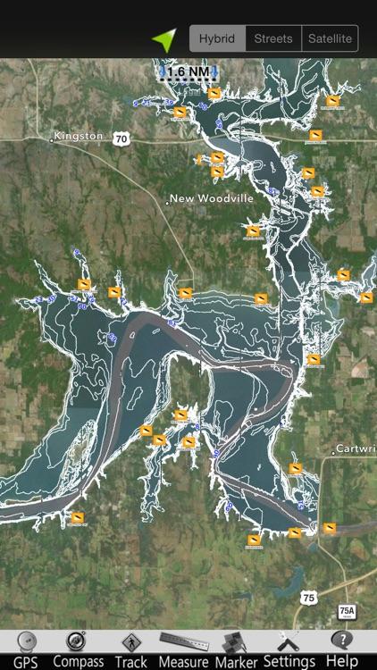Lake Texoma Nautical Charts by MapITech