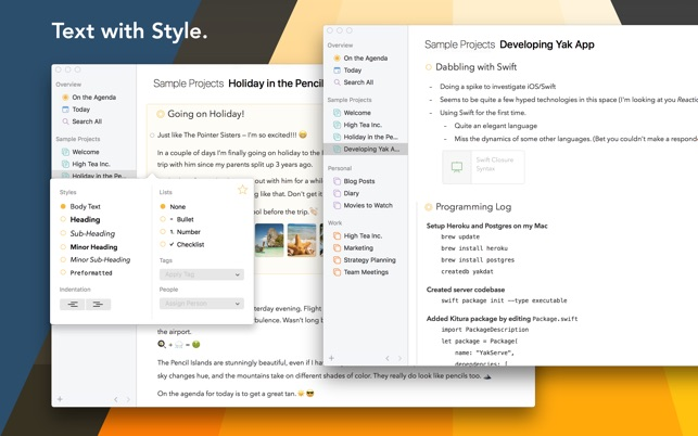 Agenda on the Mac App Store
