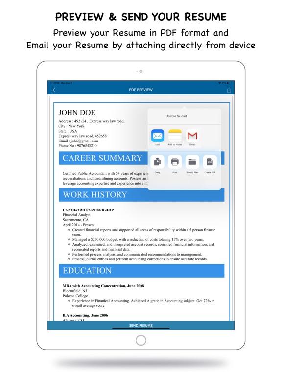 My Resume Builder - CV Maker App Price Drops