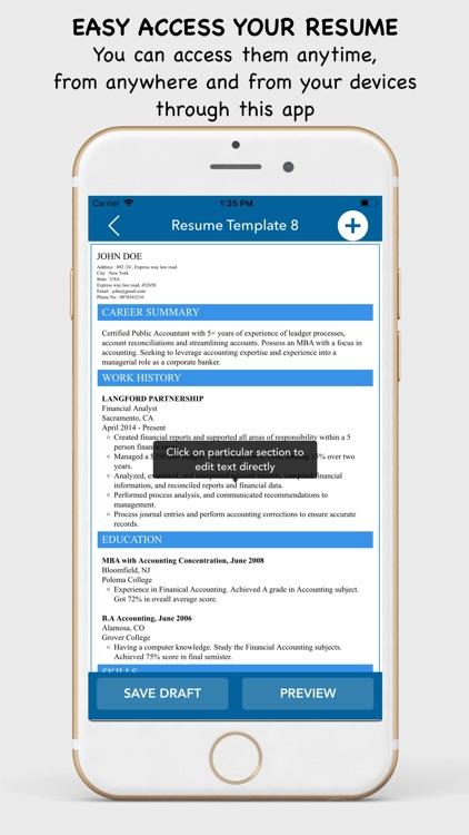 My Resume Builder - CV Maker by Gedela Bhawani