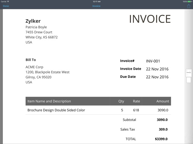 Mac Invoice Template Download Computer Service Invoice Template For