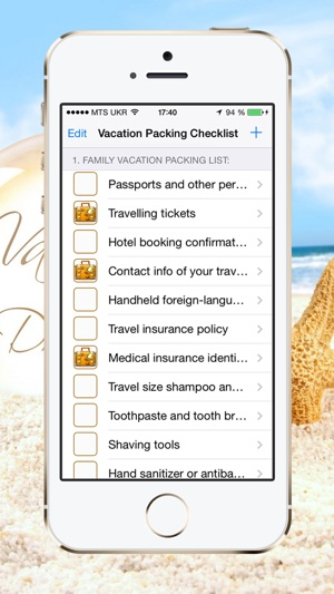 Vacation Packing Checklist on the App Store