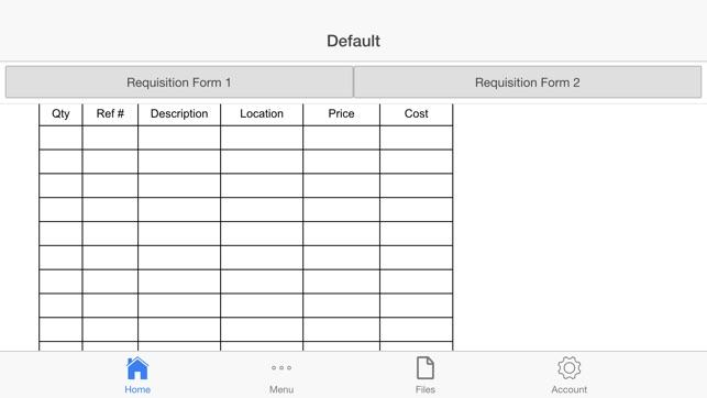 Requisition Form on the App Store