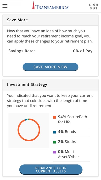 My TRSRetire by Transamerica Retirement Solutions Corporation - transamerica retirement solutions