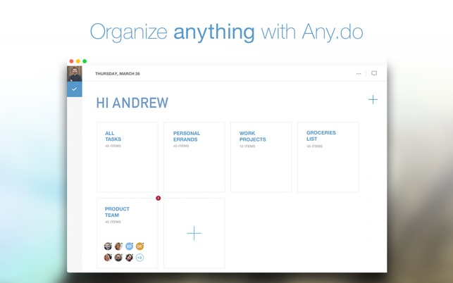Anydo - To-Do List, Daily Task Manager  Checklist Organizer on the