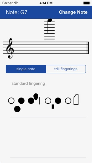 Flute Fingering Chart on the App Store