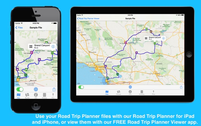 Road Trip Planner on the Mac App Store - trip maker software