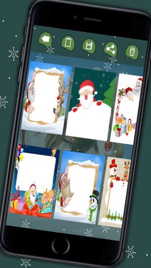 Christmas photo frames for kids - Photo editor to create xmas cards