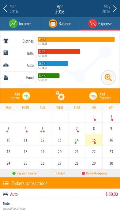 Expense manager - Money tracker by Larisa Maria Berce (iOS, United