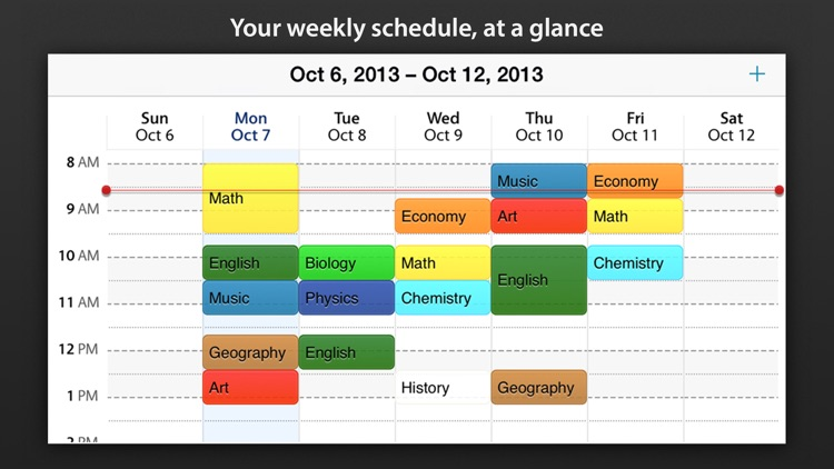 Class schedule - Your Assignment and School timetable by Bytewaves Inc