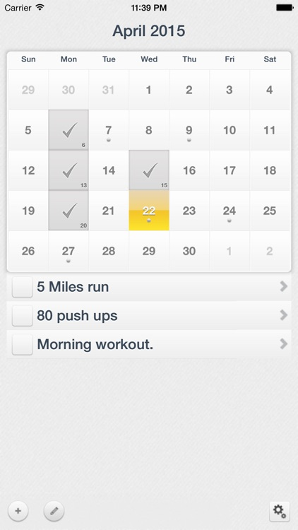 Workout Calendar - Motivation and Health by Andrei Zaharia