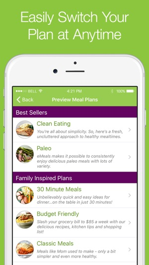 eMeals - Healthy Meal Plans on the App Store - healthy weekly meal plans