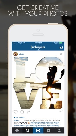 LetterFX Pro - Word Frames for Photos (Instagram edition) on the App