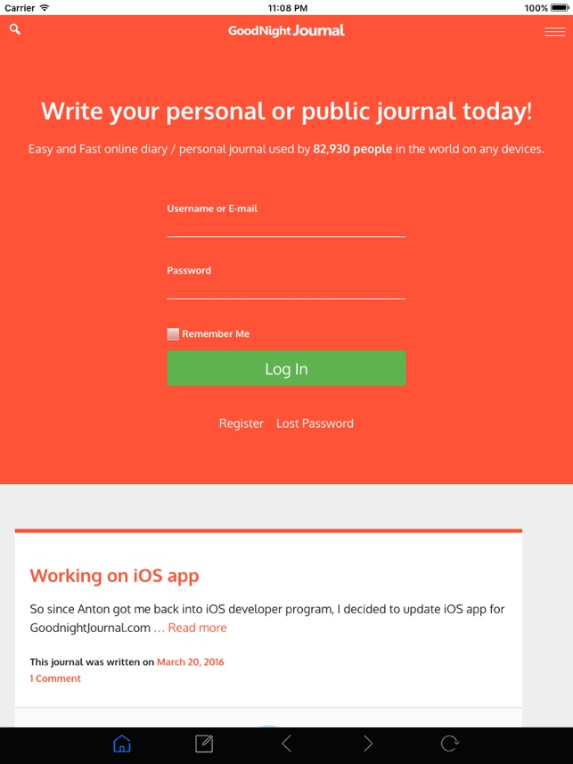 Goodnight Journal on the App Store