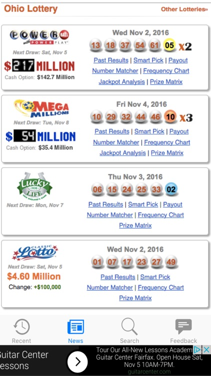Ohio Lotto Results by Leisure Apps
