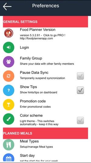 FoodPlanner App on the App Store