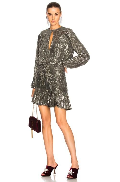 Medium Of Silver Sequin Dress