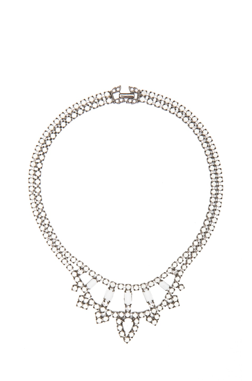 Carte Blanche Anklets Tom Binns Carte Blanche Rhodium Plated Necklace In Diamond Fwrd
