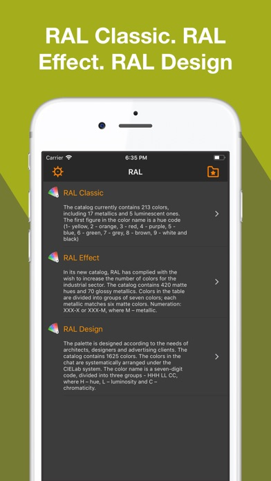 RAL colors 3D color palette on the App Store - ral color chart