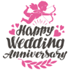 Asif Mohd. - Happy Anniversary Love Sticker Pack アートワーク