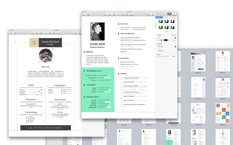 Resume \ CV Expert - Templates for Pages on the Mac App Store - resume templates for pages mac