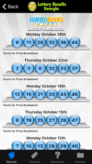 Lottery Results Georgia app: insight & download.