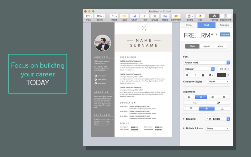 Resume Templates For Pages On The Mac App Store Apprentice Plumber