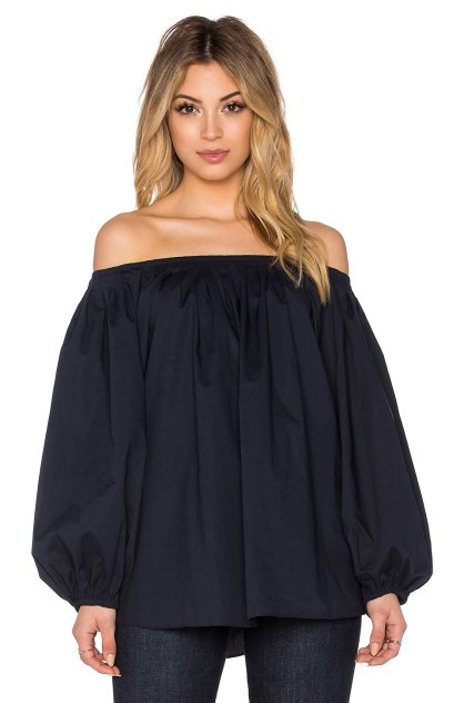 BLAQUE LABEL Off Shoulder Top in Navy