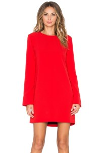 Long Sleeve Red Dress | All Dress