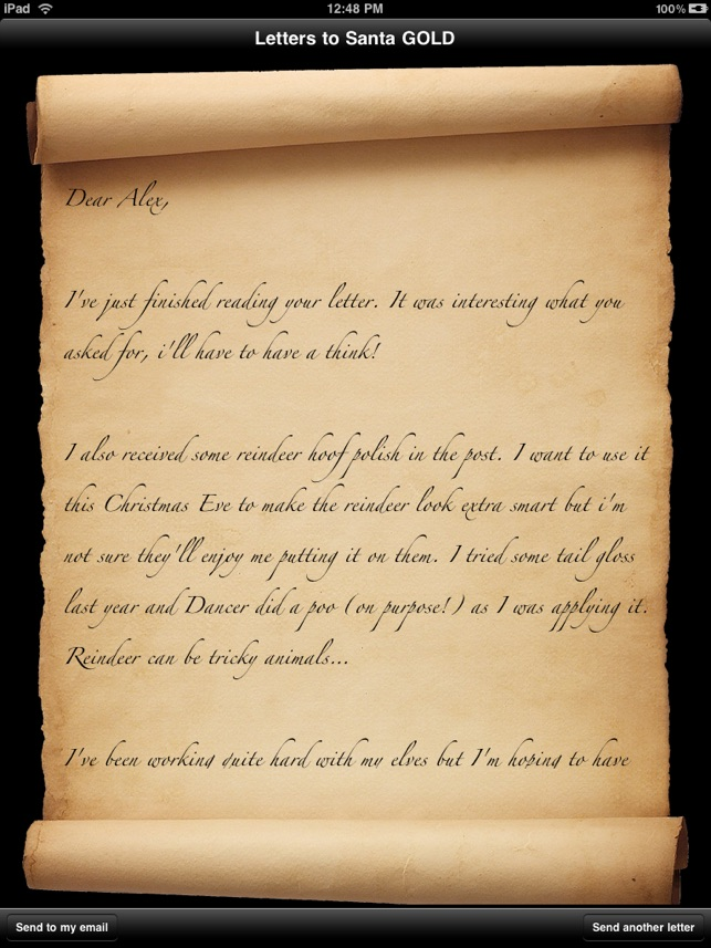 Letters to Santa Gold on the App Store