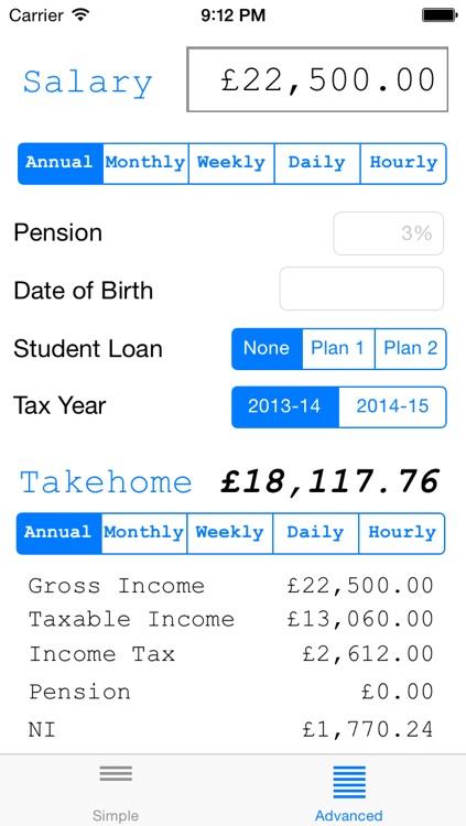 Salary Calculator (UK) \u2013 (iOS Apps) \u2014 AppAgg